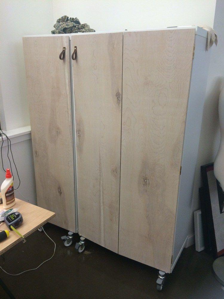 How To Add Doors To Kallax Craft Cabinet Diy Schrankturen Regal Mit Turen Ikea Diy