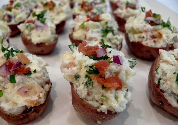 Stuffed Red Potatoes Serve Cold Or At Room Temp Make
