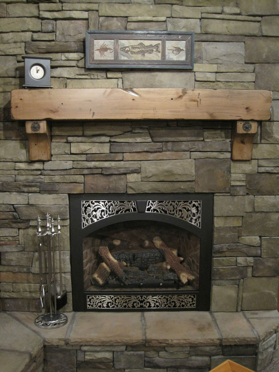 Pair of Corbels Cove Style New Solid Pine For Rustic Fireplace Mantel
