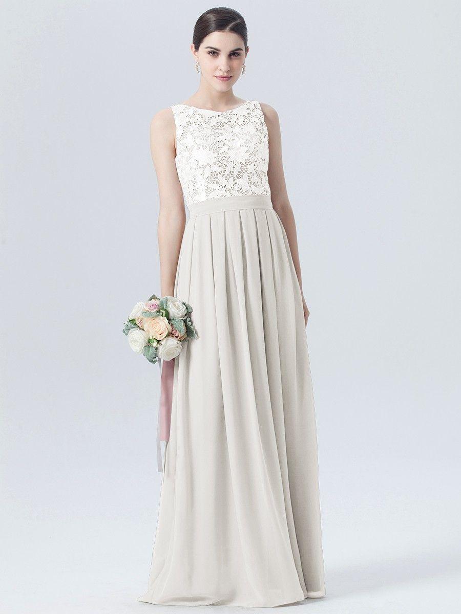 Lace Chiffon Two Tone Dress Plus and Petite sizes
