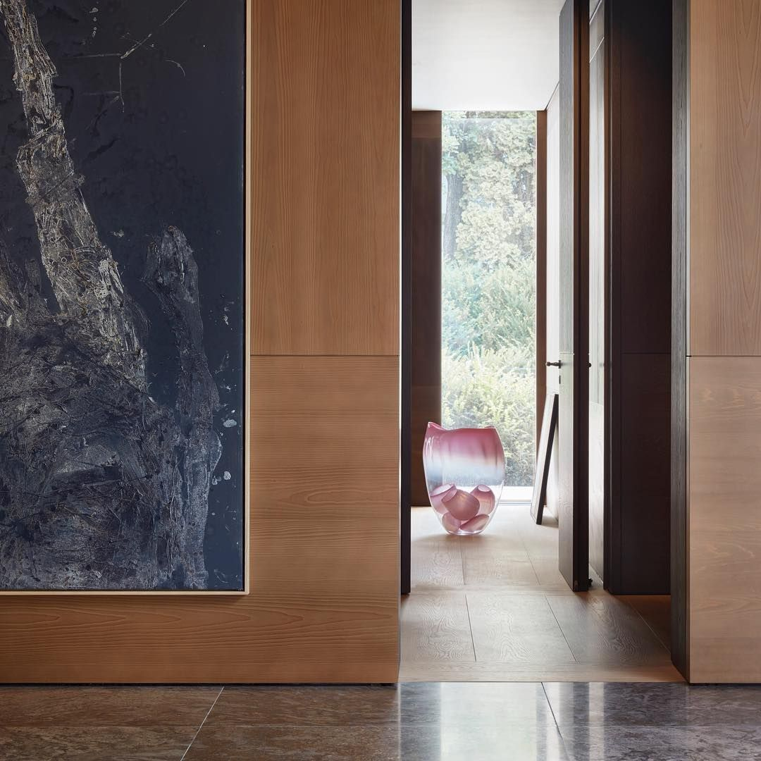 Cedar Wood Panelings In An Interior Architecture Project In Munich By Studio Liaigre Interior Architecture Contemporary Interior Design Architecture Project