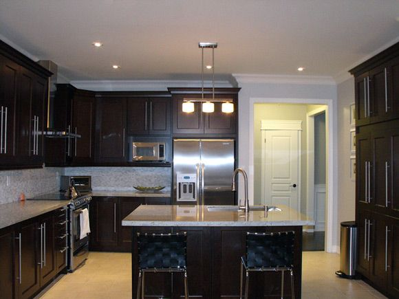 1000 images about kitchens on pinterest cream colored kitchens dark brown cabinets and dark wood kitchens