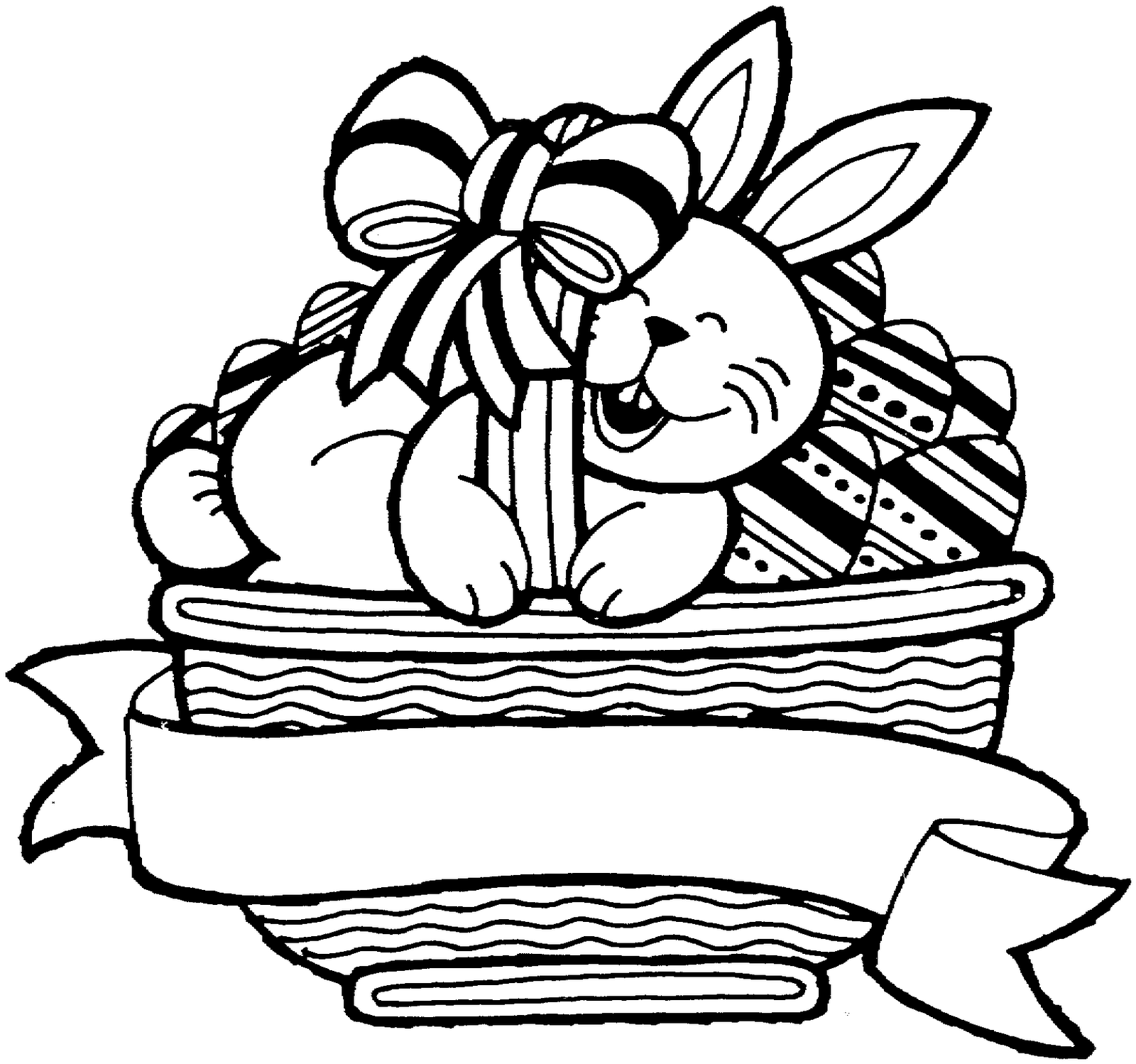 here u0027s a bunny in a basket a lovely easter colouring in sheet