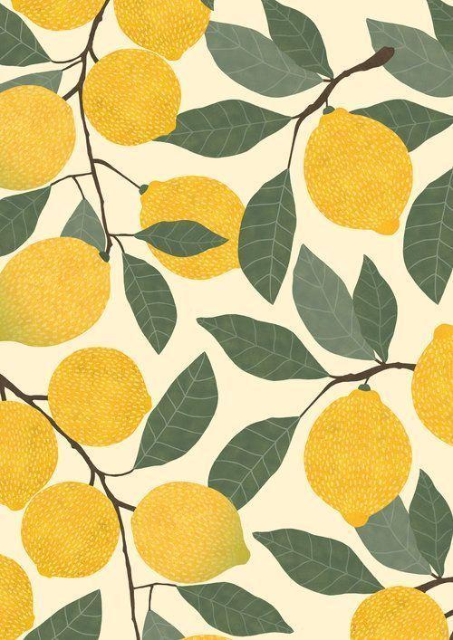 lemon pattern - #graphism #lemon #pattern