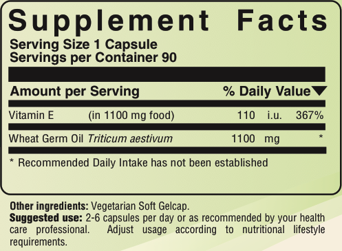 Wheat Germ Oil E   health   Wheat germ, Omega 3 epa dha, Omega 3