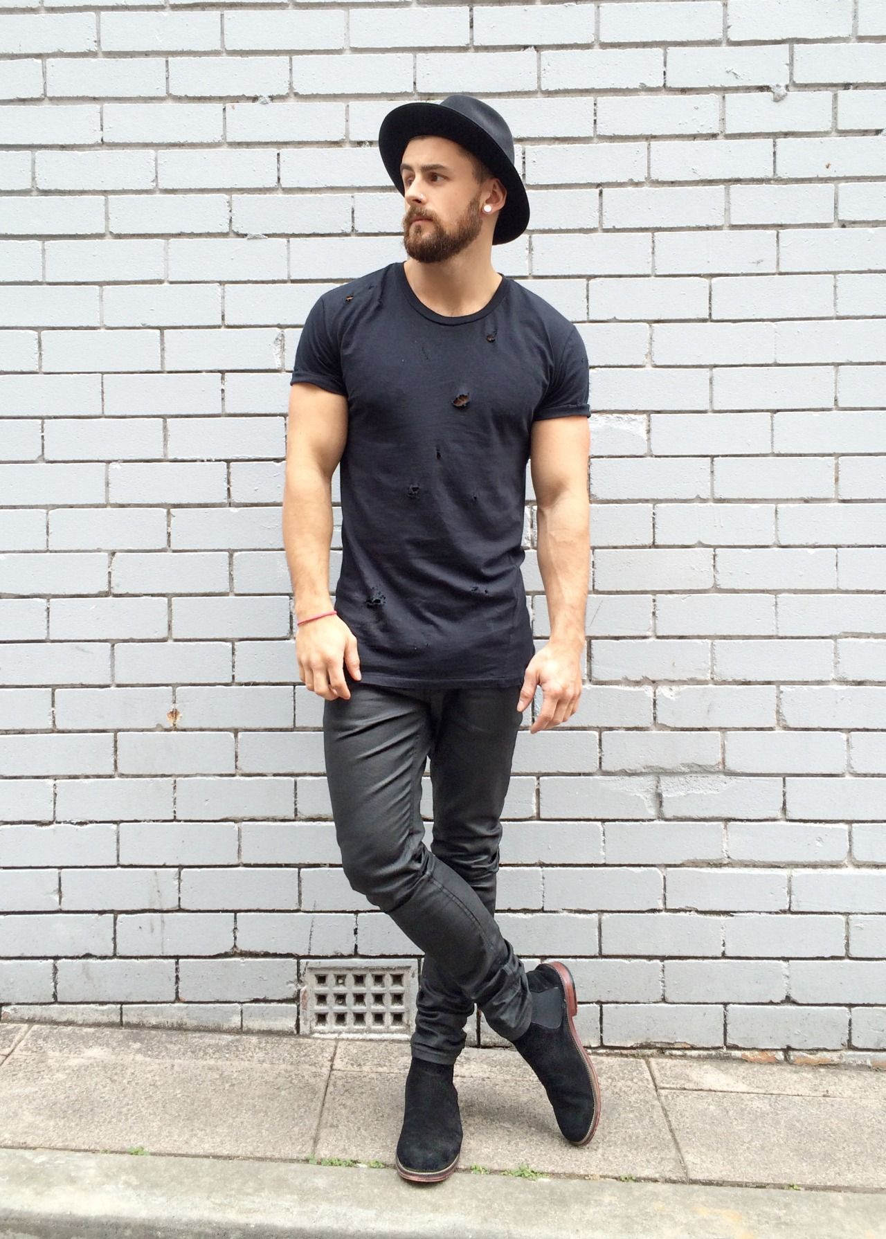 blackout shop: boots jeans hat | Men's Fashion | Fashion ...