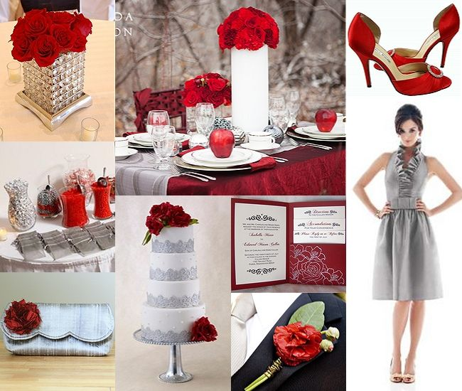 Red and Gray Wedding | Weddings ~ REALLY!? Only ONE Theme ...
