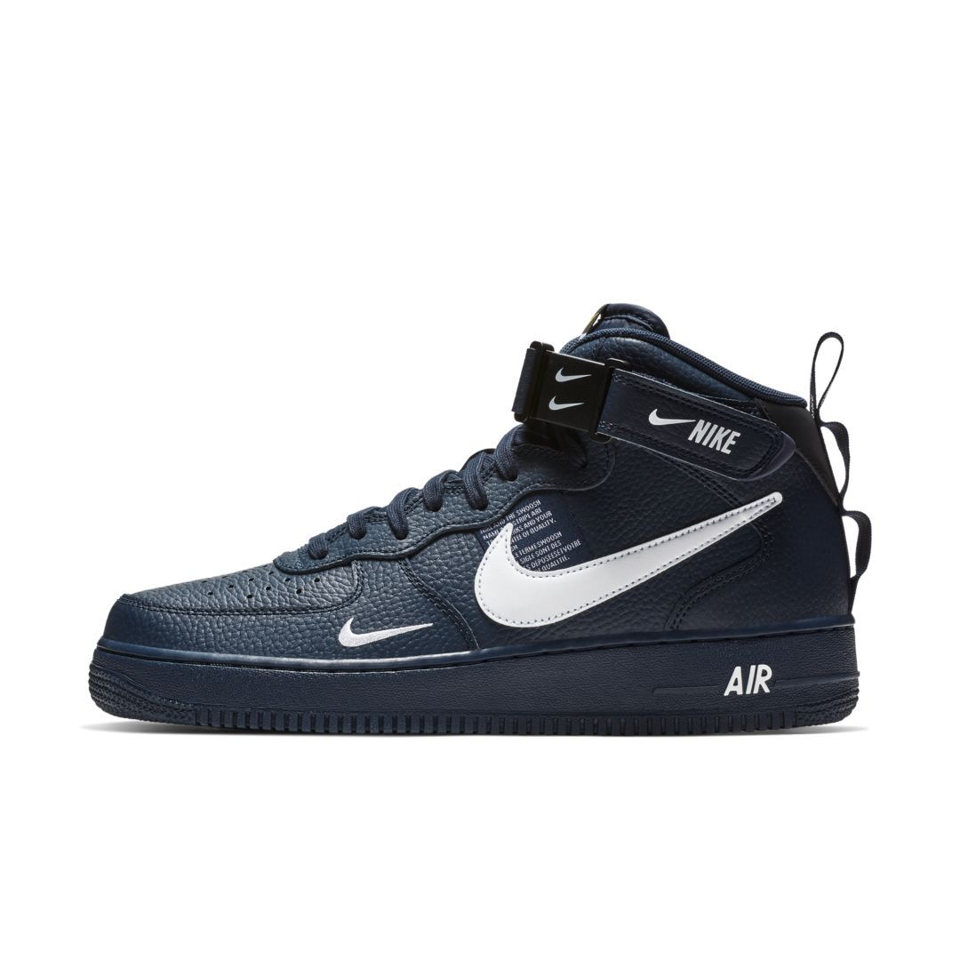 low priced 8bb9a fff90 Nike Air Force 1 07 Mid LV8 Men s Shoe Size 11.5 (Obsidian)