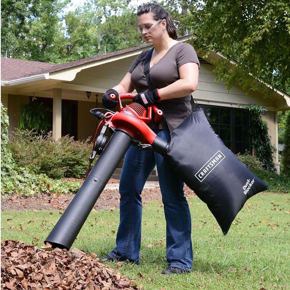 Leaf Vacuum Shredder Blower Handheld Bag 2 Speed Electric Mulcher Yard Lawn Vac Lawn Vacuum Vac Leaf Blower