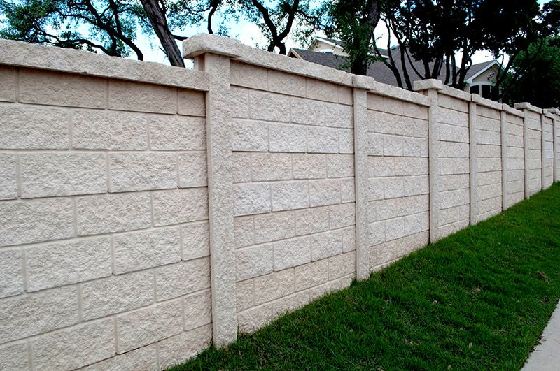A Privacy Fence Made With Blockcrete Fencing Form And Function