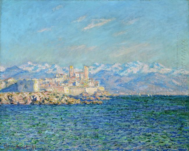 Oil painting reproduction: Claude Oscar Monet Antibes Afternoon Effect - Artisoo.com