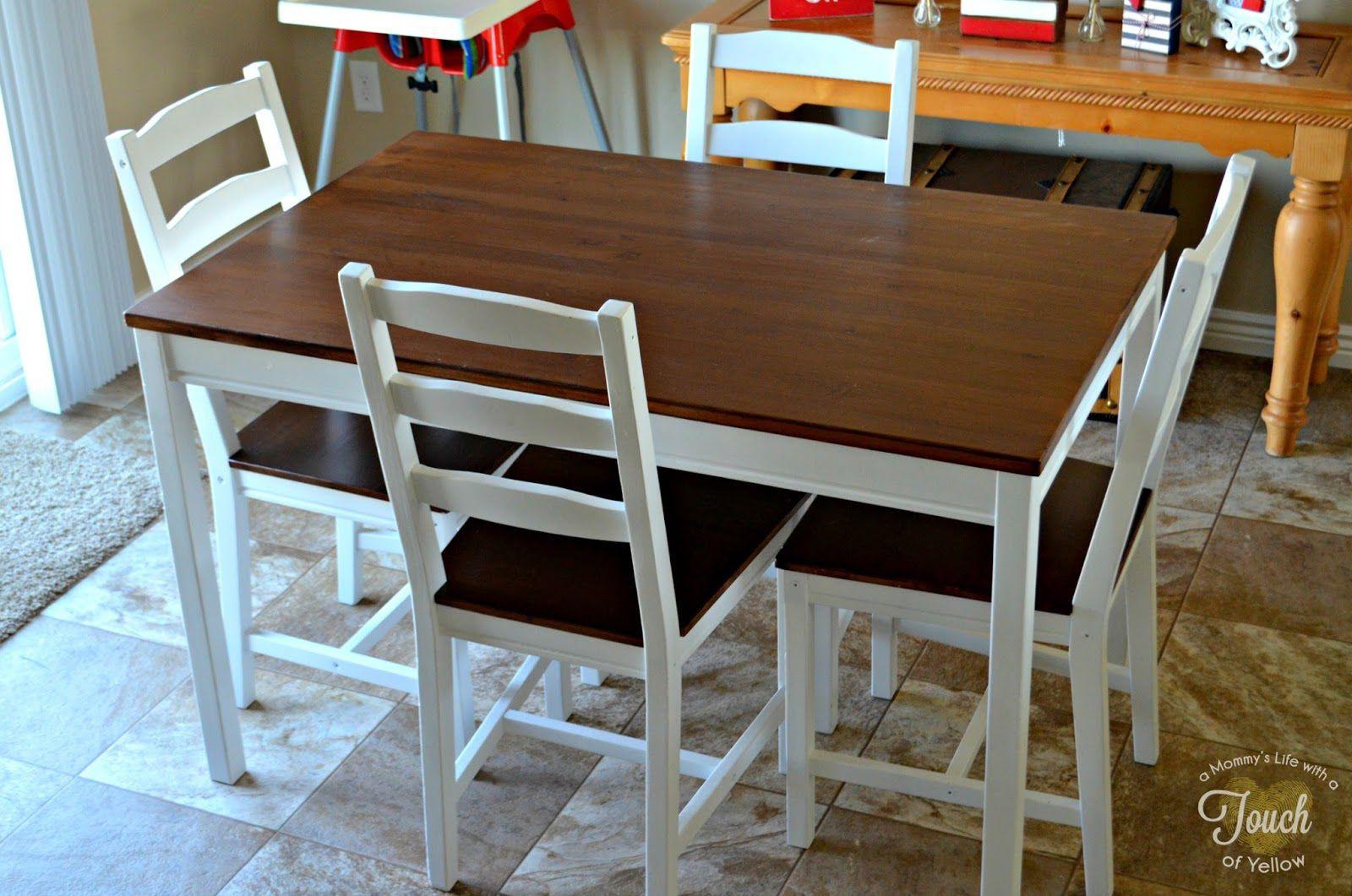 jokkmokk table and 4 chairs home stuffs kitchen table makeover rh pinterest com Salmi Table IKEA IKEA JOKKMOKK Table Hack