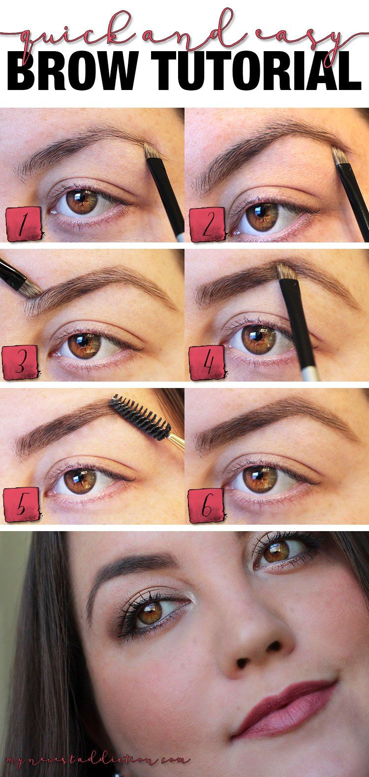Quick and Easy Brow Tutorial - My Newest Addiction