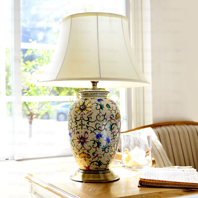 Boutique E27 Lamp Holder Ceramic Table Lamps For Living Room Country Living Room Furniture Living Room Lamp Shades Lamps Living Room