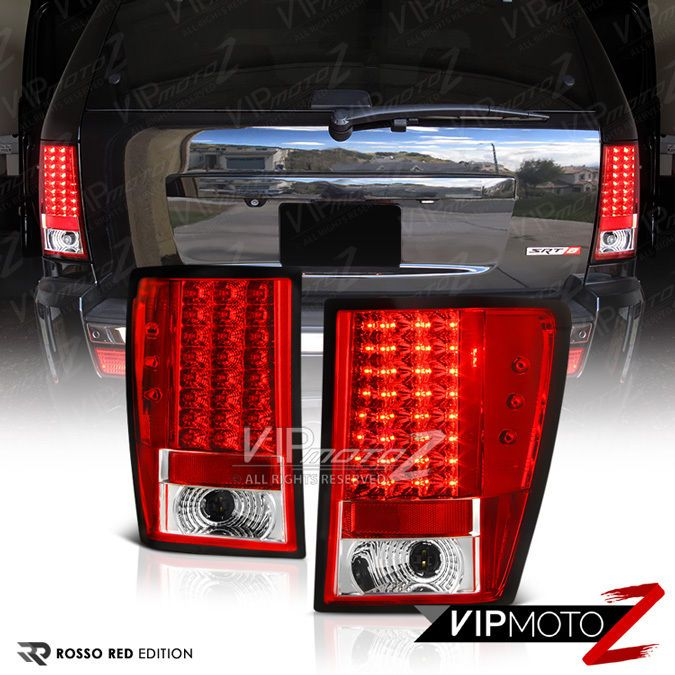 Red Clear Led Signal Brake Lamp Tail Light 2007 10 Grand Cherokee Jeep Wk Srt8 Vipmotoz