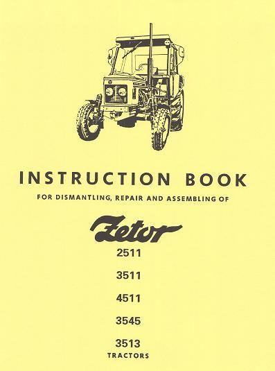 repair manual zetor 2511 3511 4511 3545 3513 138 pages tractors rh pinterest com Mahindra Tractors Used Tractors