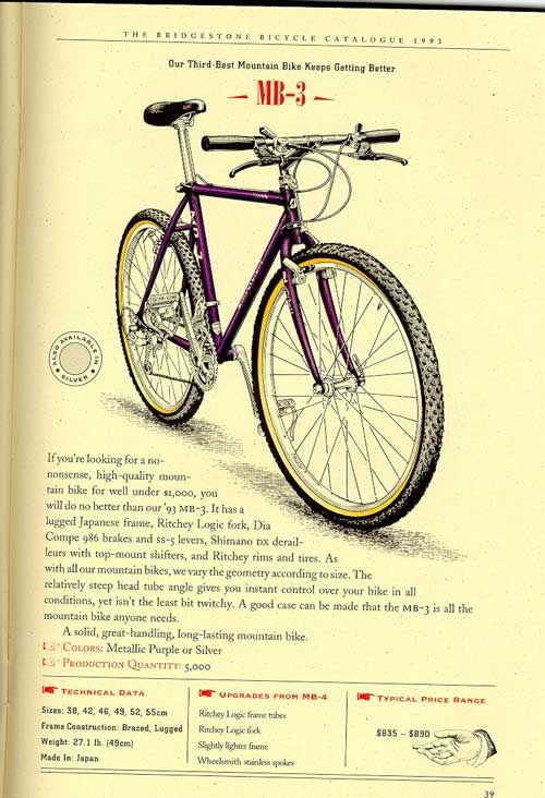Bridgestone Bicycles 1993 Catalogue Page 39 Bicycle Vintage Mountain Bike Bridgestone