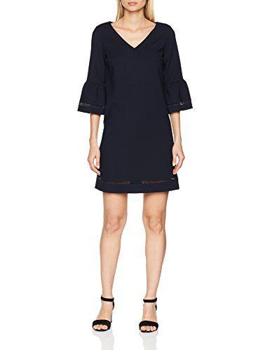 S Oliver Damen Kleid 14 803 82 7590 Blau Navy 5959 40 Modestil Kleider Damen