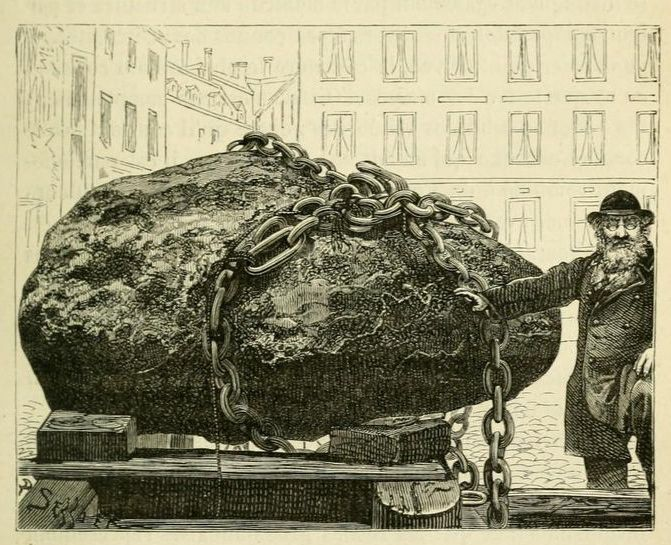 A block of iron ore found in Greenland. 1881.