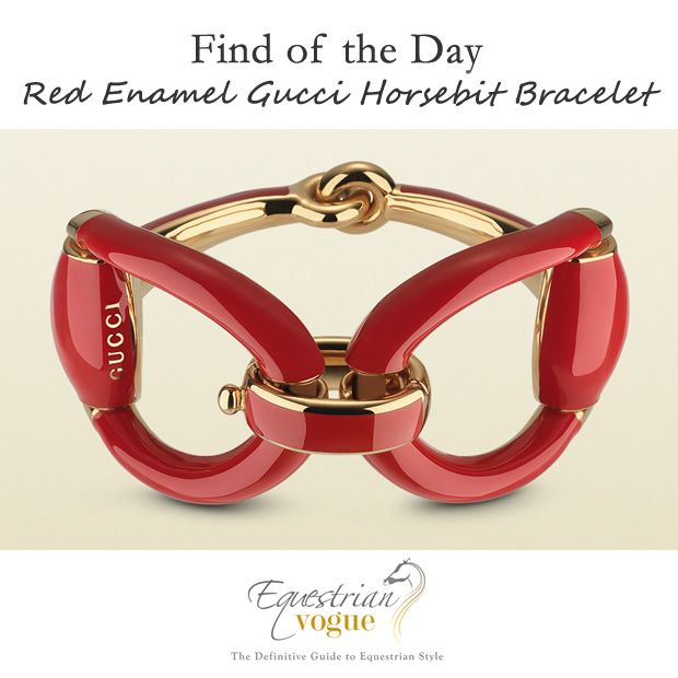 Find of the Day: Red Enamel #Gucci Horsebit Bracelet  Read more: http://www.equestrianvogue.com/find-of-the-day/find-day-red-enamel-gucci-horsebit-bracelet/#ixzz3TLEaCT2V