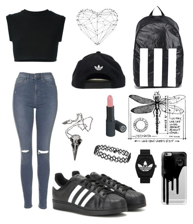 """Adidas day"" by alicemarianaa on Polyvore featuring Topshop, Casetify, adidas Originals, adidas and Pamela Love"