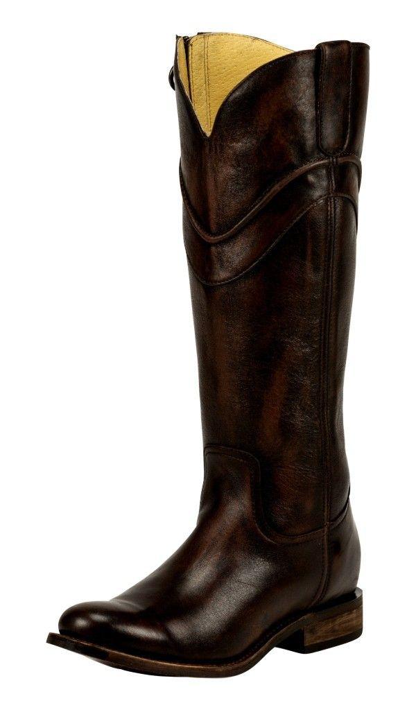 Justin Women S Tall Chocolate Barocco Fashion Boots