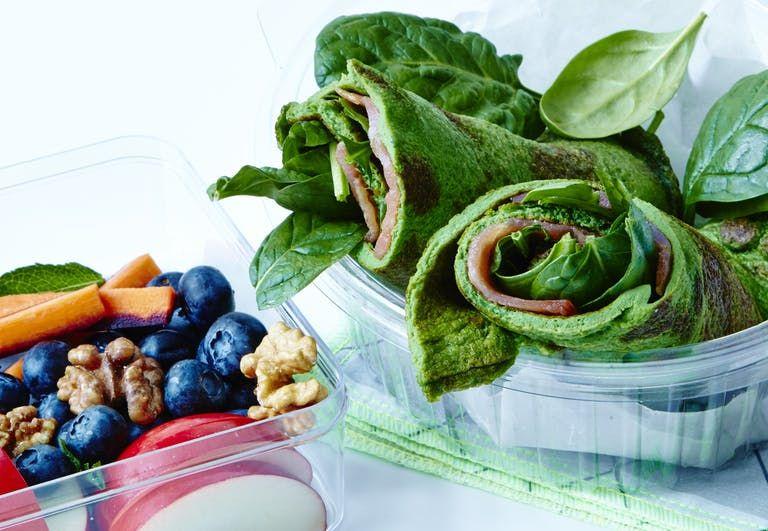 Spinat Wrap Med Laks Og Frugt Sunde Opskrifter Healthy Recipes