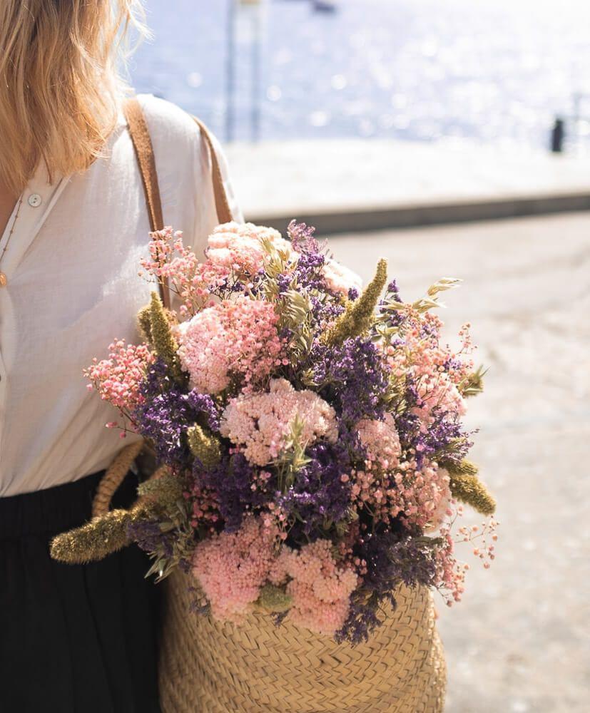 Bouquet Caïals Fleurs séchées Rosa Cadaqués Bouquet de