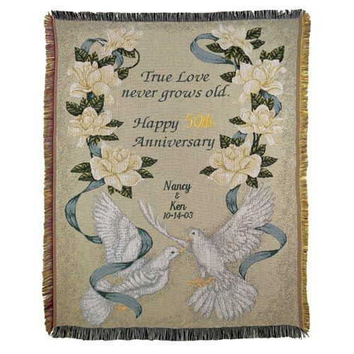 Walmart Wedding Gift Ideas: Personalized Anniversary Afghan Throw - Walmart.com