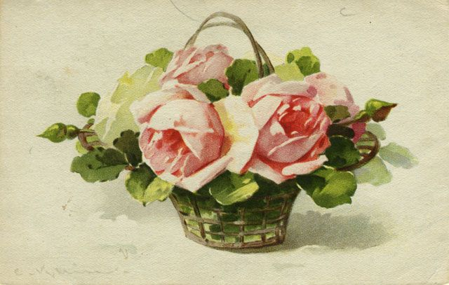Carte de Catharina Klein - Roses dans un panier