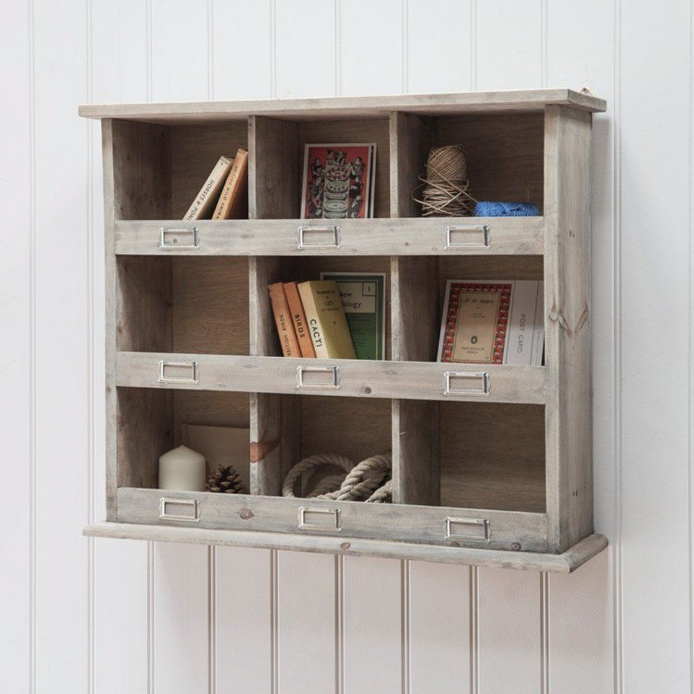 Wooden Wall Unit Square Rustic Wooden Pigeon Hole Unit  Pigeon Holes  Pinterest