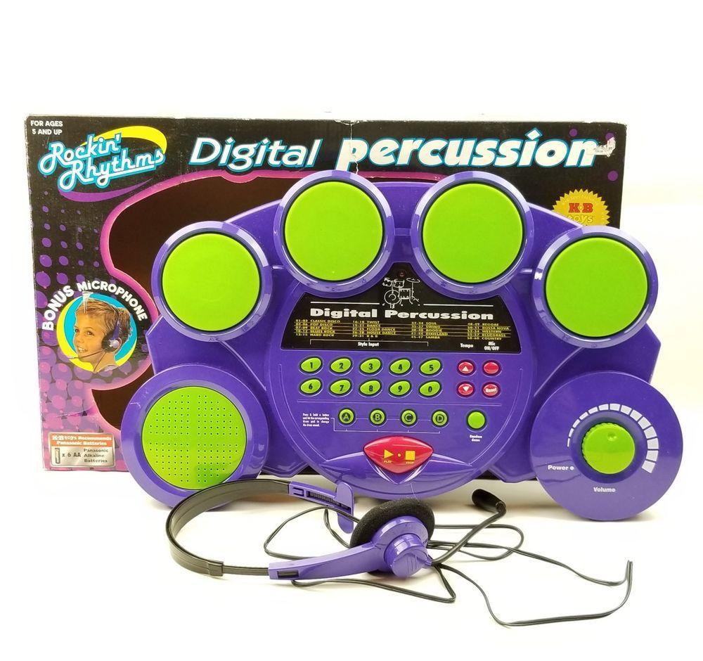 315c366c3940 Kids Digital Percussion Drum Set 4 Pad Beat Machine Electronic Music Toy  Kit Mic Eztec Rockin Rhythms Child  Eztec