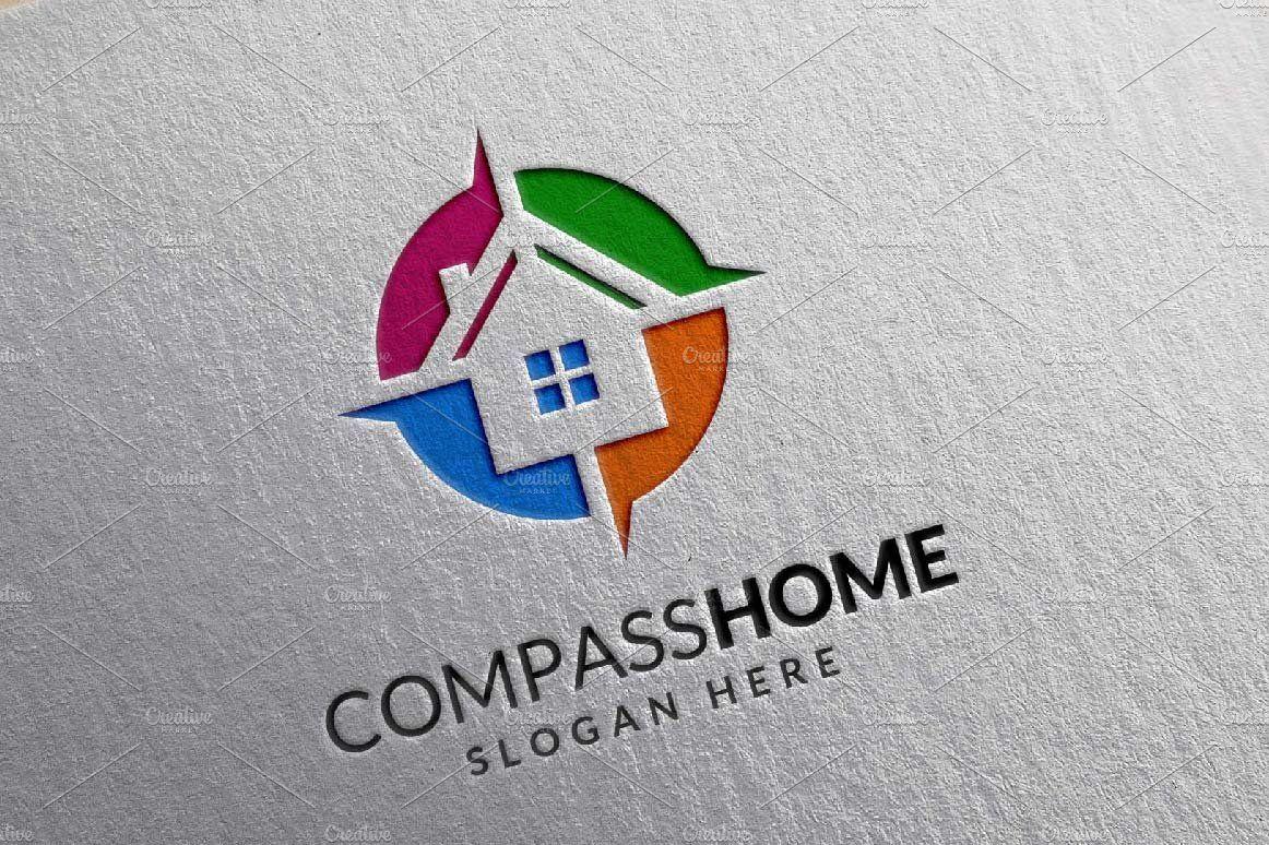 Compass home logo, real estate,home by denayunebgt on