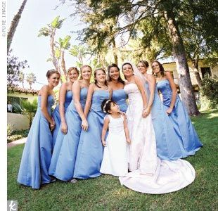 Periwinkle Blue Satin Dresses To Enhance The Events Nautical Theme