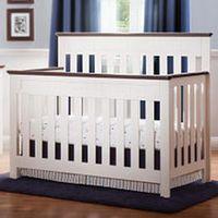 Delta Children Chalet 4 In 1 Convertible Lifetime Crib White Ambiance Dark Chocolate Cribs Convertible Crib White Delta Children