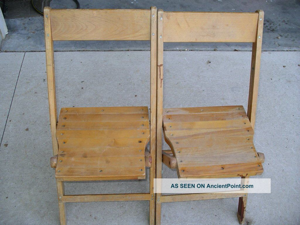 2 Vintage Solid Wood Folding Chairs Retro Decorative Accent Church School  Post 1950 photo2 Vintage Solid Wood Folding Chairs Retro Decorative Accent Church  . Decorative Folding Chairs. Home Design Ideas