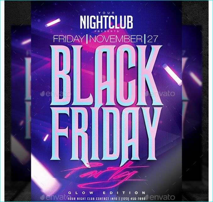 Black Friday Party Flyer Template - Party Flyer Templates For - black flyer template