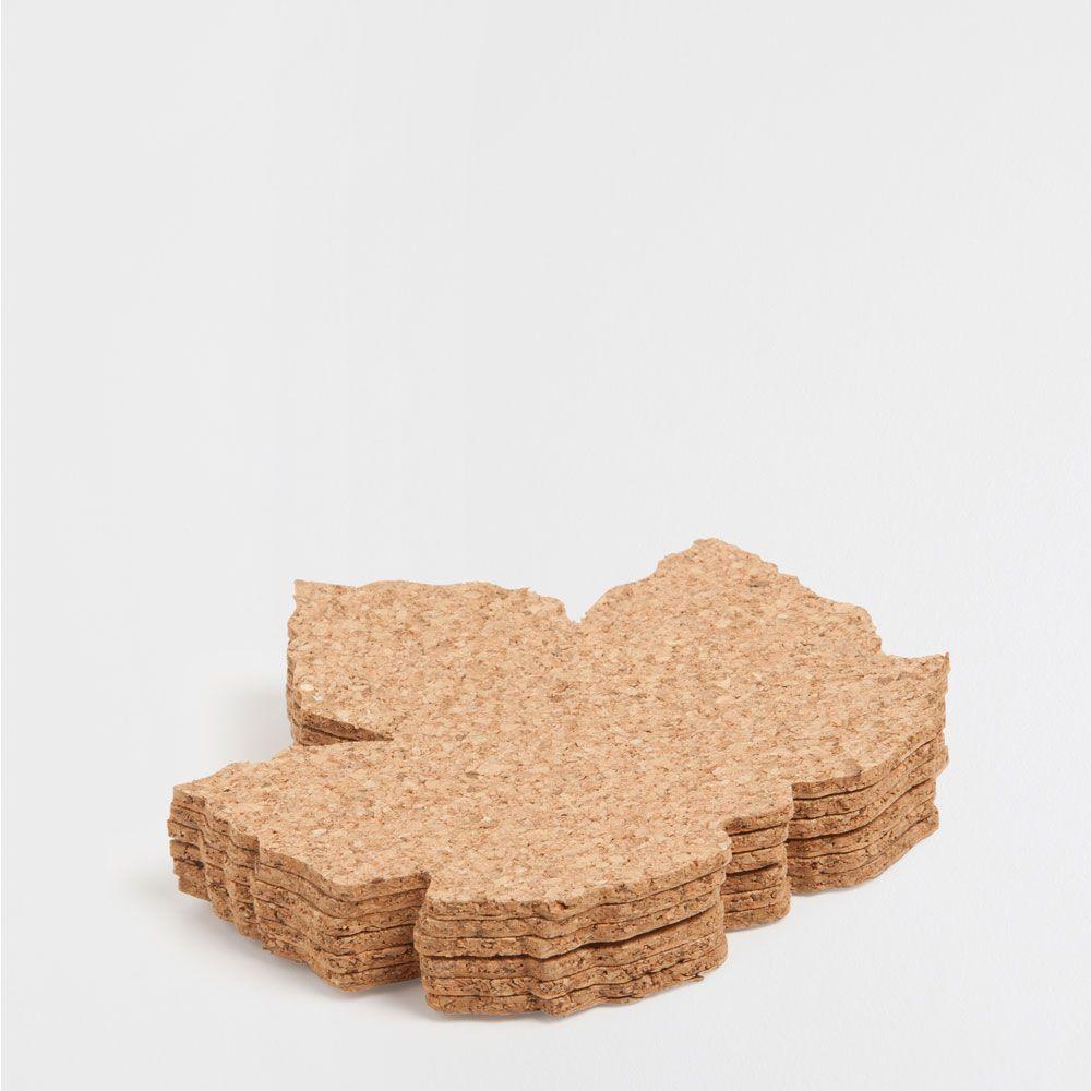 Σουβέρ από φύλλο φελλού (σετ των 6)