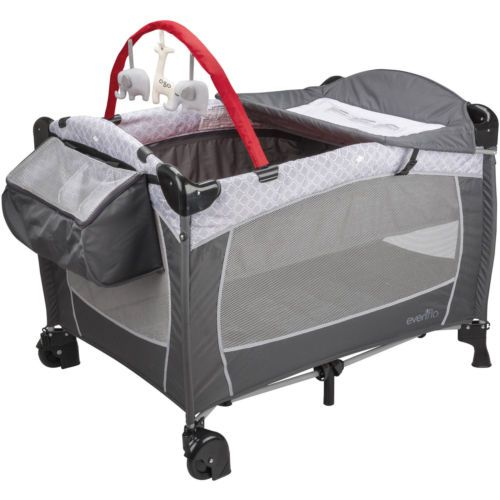 New Evenflow Deluxe Baby Playard Nursery Bassinet Infant ...