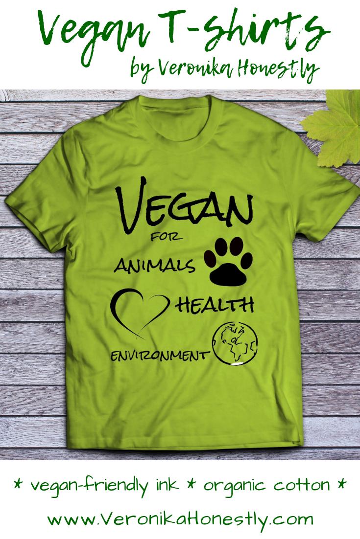 Items Similar To Organic Cotton Vegan Shirt Vegan For Animals Health Environment Unisex Organic Cotton T Shirt Eco Friendly Vegan Gift For Her And Him On Etsy Vegan Shirt Organic Cotton T