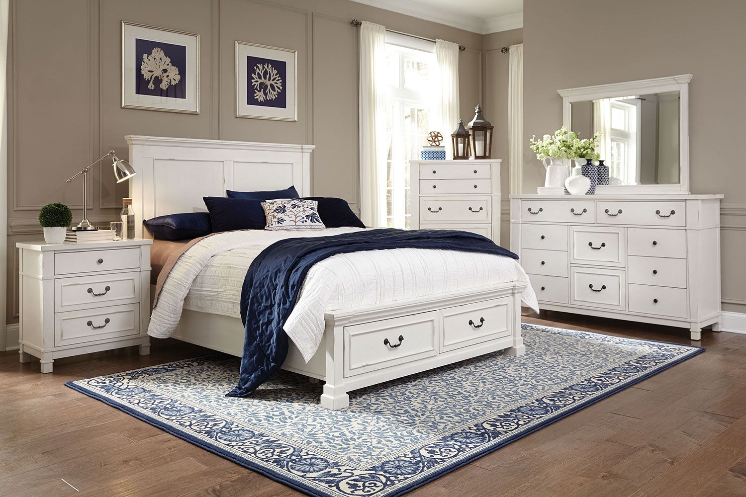 Bedroom Furniture - Taryn 5-Piece King Storage Bedroom Set