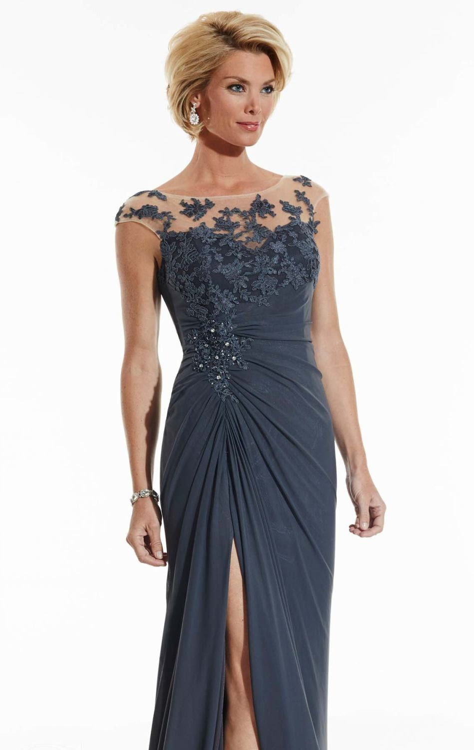 Beaded lace evening gown by serena london prom dress designers