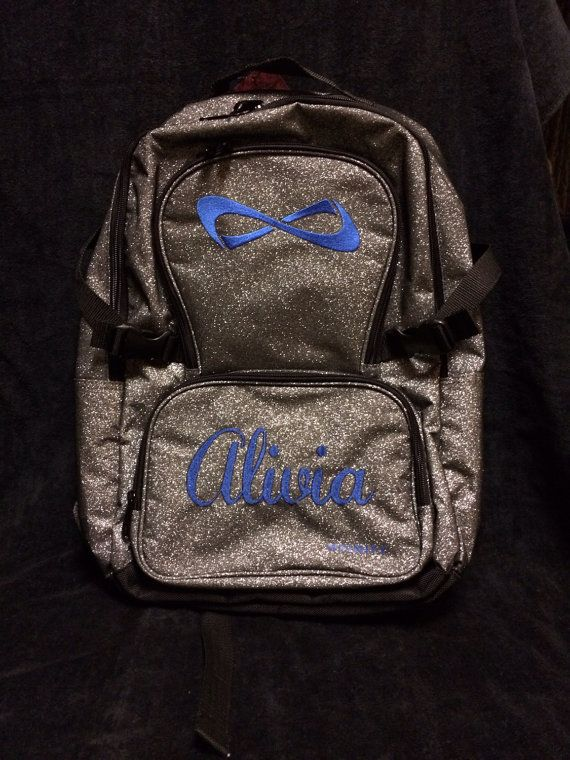 effa707c8511 Nfinity Sparkle Backpack with Embroidery BLUE PRE by TEAMDDESIGNS ...