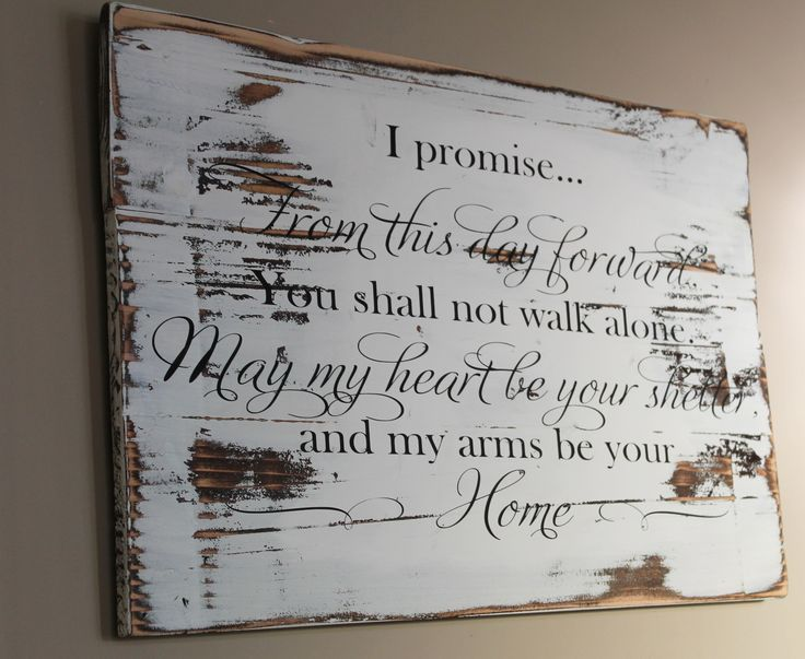 Wood Wedding Gift Ideas: Rustic Wedding Vow Wood Sign, From This Day Forward