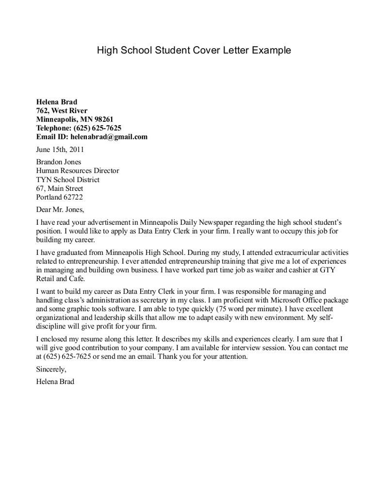 cover letter examples for recent graduates