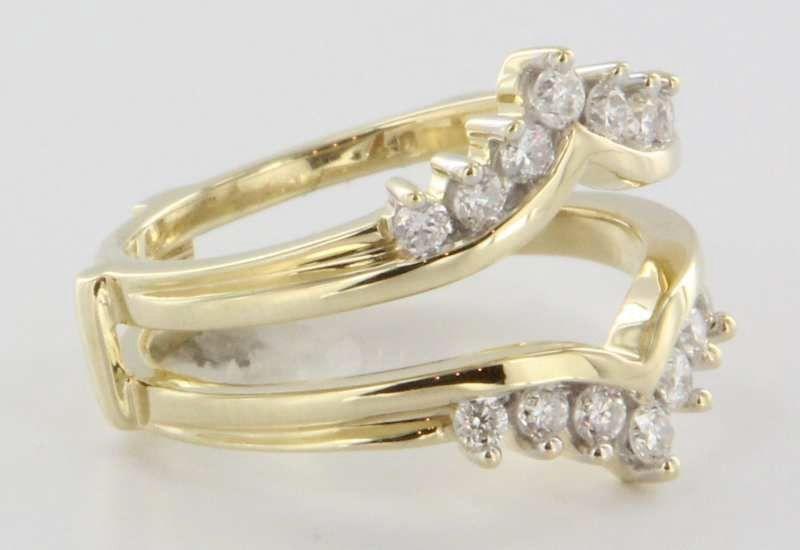 Yellow Gold Wrap Around Wedding Band Vintage 14 Karat Yellow Gold Diamond Wedding Ring Guard Wrap Wrap Wedding Band Wedding Ring Guard Wedding Shoes Vintage