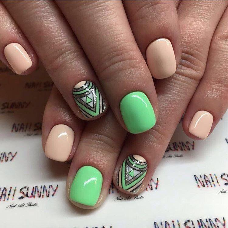 Beautiful nails 2016, Drawings on nails, Nails under light green dress,  Pink and lime green nails, ring finger nails, Spring nail designs, Spring  nail ideas ... - Nail Art #1597 - Best Nail Art Designs Gallery Pinterest Nail