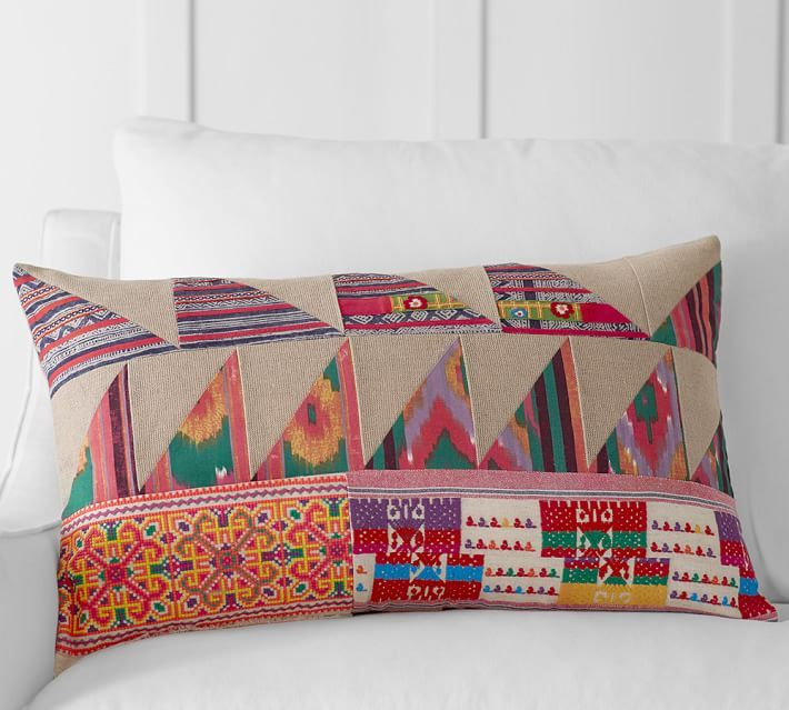 Pauline Boyd Patchwork Hatchling Lumbar Pillow Cover O Jpg