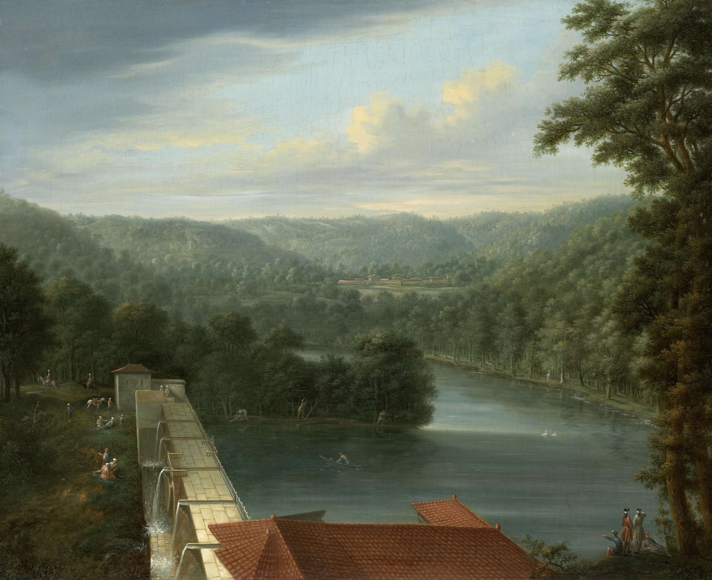 The Water Reservoirs, the so-called Bends, in Belgrade Forest, Johann Christian Vollerdt, Jean Baptiste Vanmour, 1744 - 1763