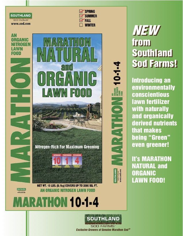 Organic Lawn Food Sod Com Seed Fertilizer Starter Pack Southland Sod Farms